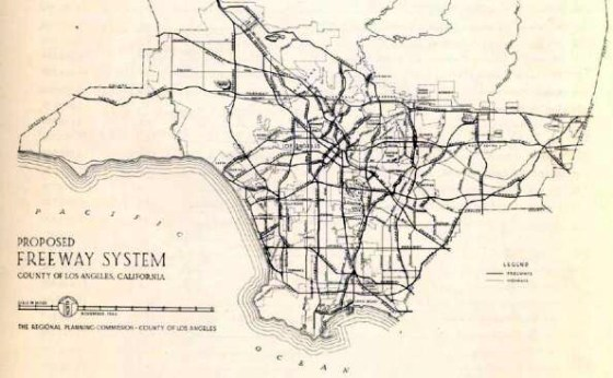 1946 proposed freeway system