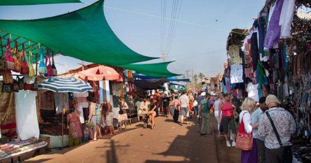 flea markets of goa
