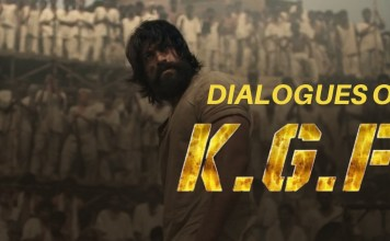 dialogues of kgf