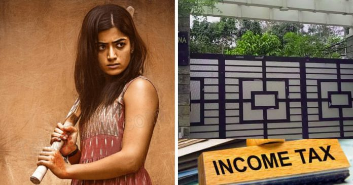 Income Tax Raid On Rashmika House