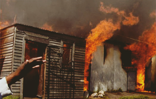 Shack fire in KZN, left many homeless