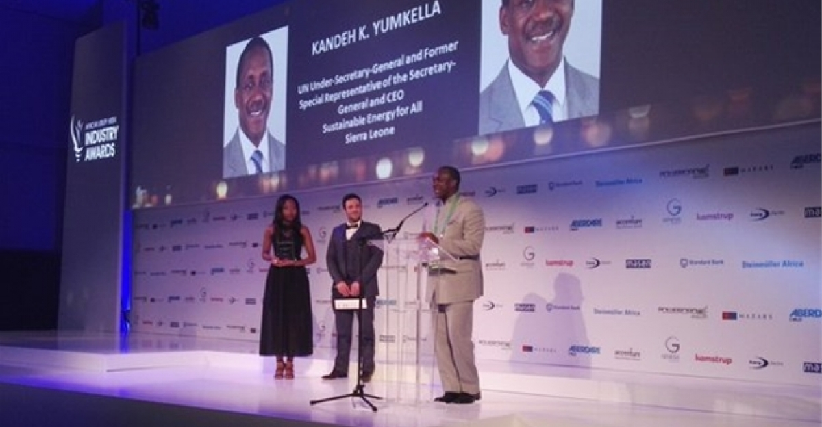 Winners at the African Utility Week Industry Awards