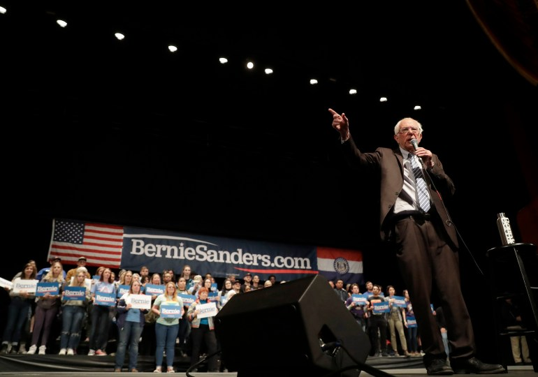 Sanders touts energy in St. Louis rally