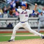 Which Mets reliever is a Least Valuable Player nominee?