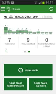 Oma riista -sovellus Androidilla