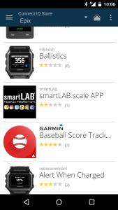 Garmin Connect -sovellus ja kauppa