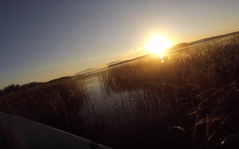 Auringonnousu Päijänteellä