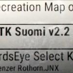 Settings / Map / Configure Maps valikosta löytyvät vakiokartat ja juuri asennettu MTK Suomi v2.2