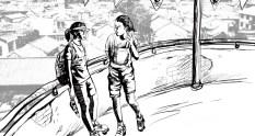 Shanshan og Shayu på taget af skøjtebanen