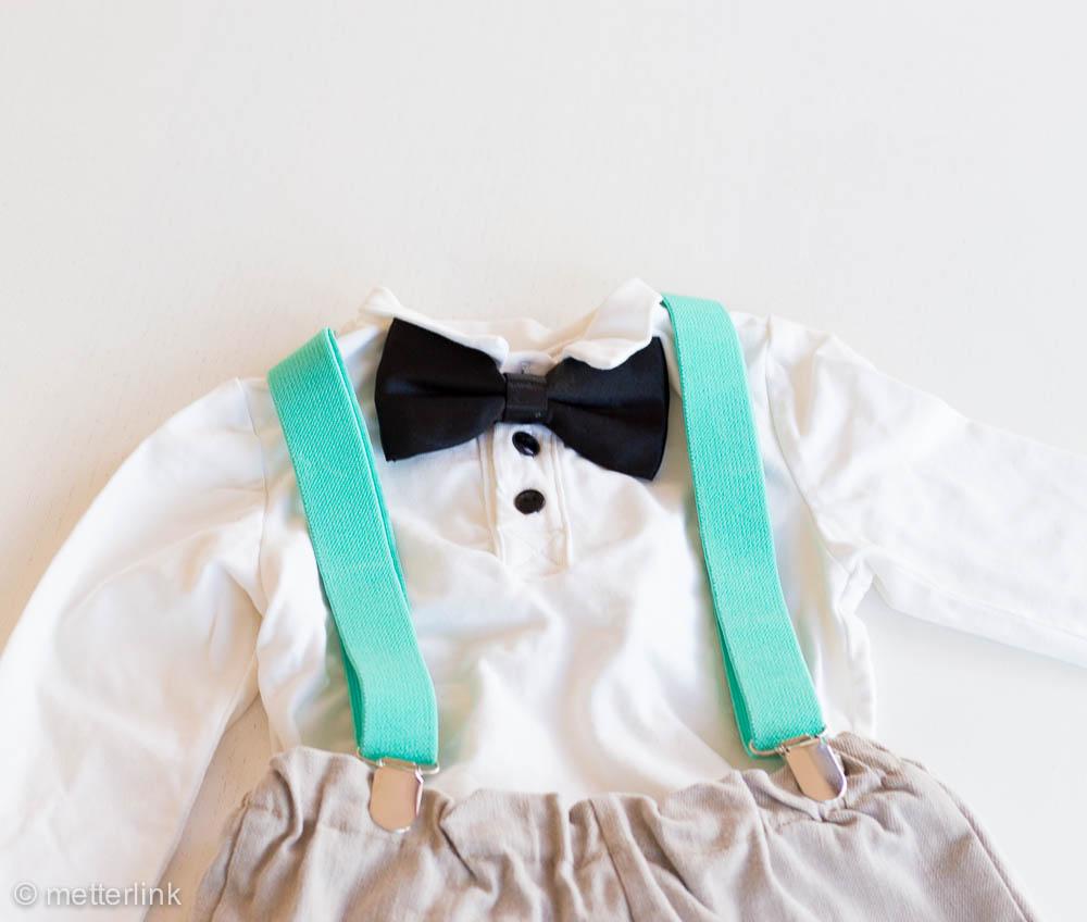 metterlink näht und bastelt: Tauf- Outfit und Deko in mint und weiß