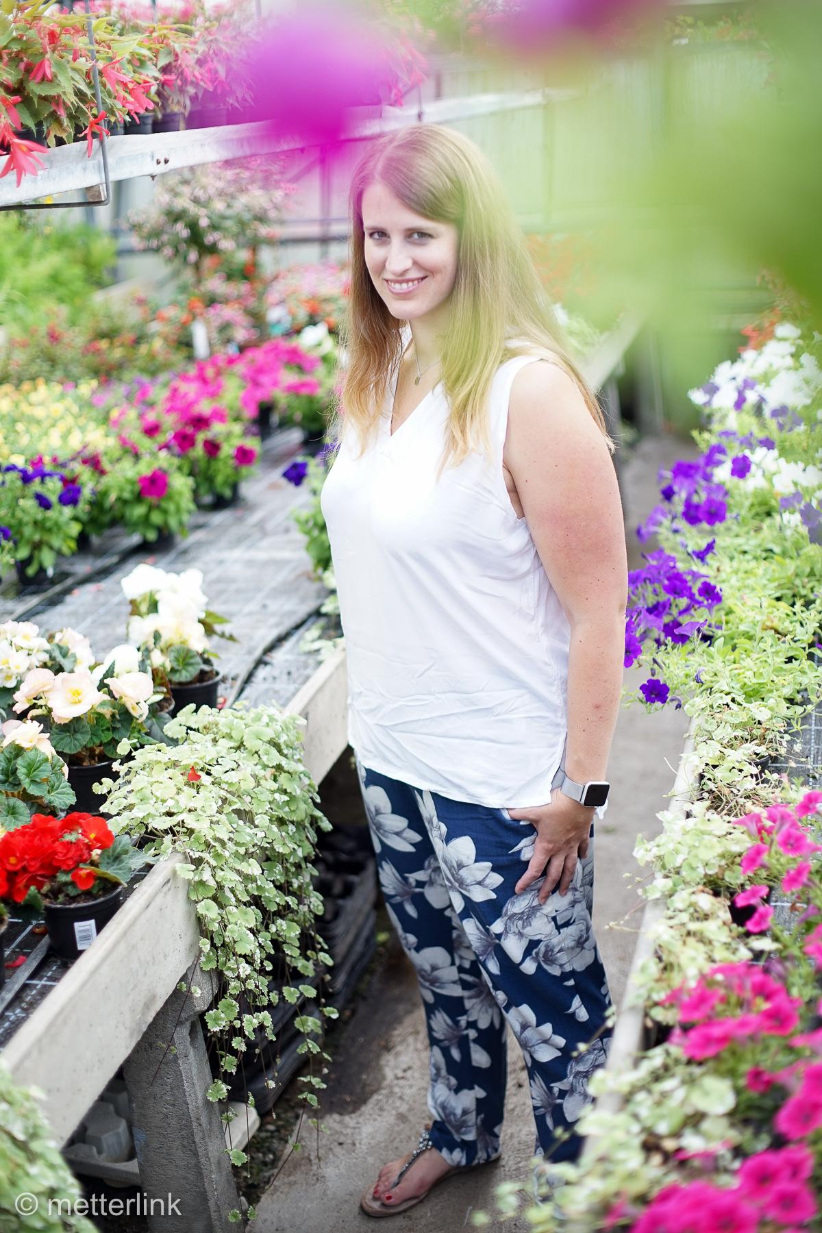 metterlink näht: Stoffhose Juno von Kreativlabor Berlin aus Blumen- Jersey