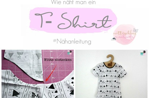 Tshirt nähen anleitung diy tutorial wie