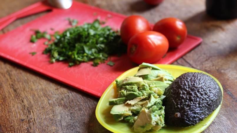 Avocado und Tomaten