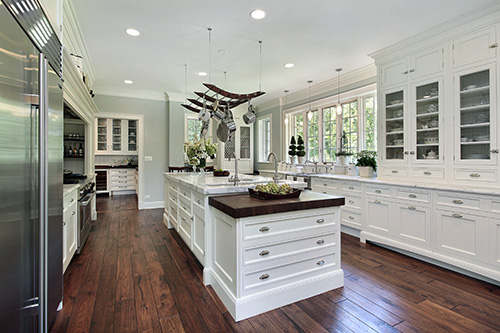 spacious luxury home kitchen