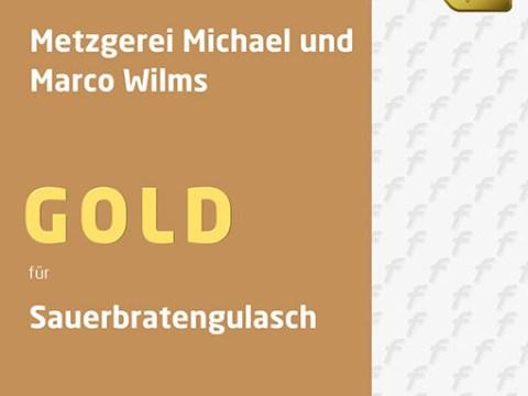 Auszeichnung Sauerbratengulasch