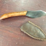 Wood carving knife