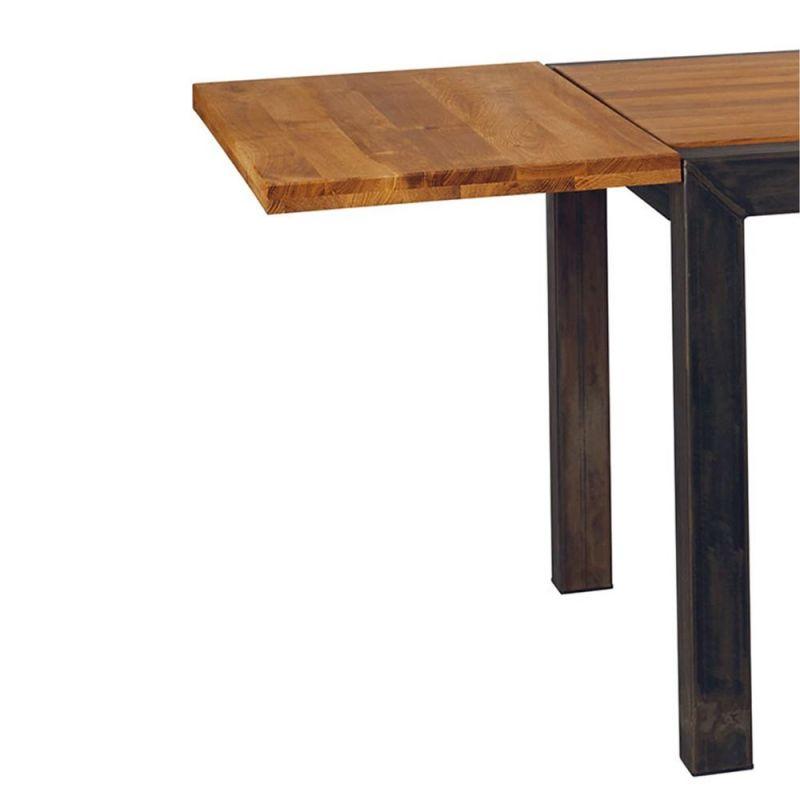 rallonge table chene metal loft 50cm