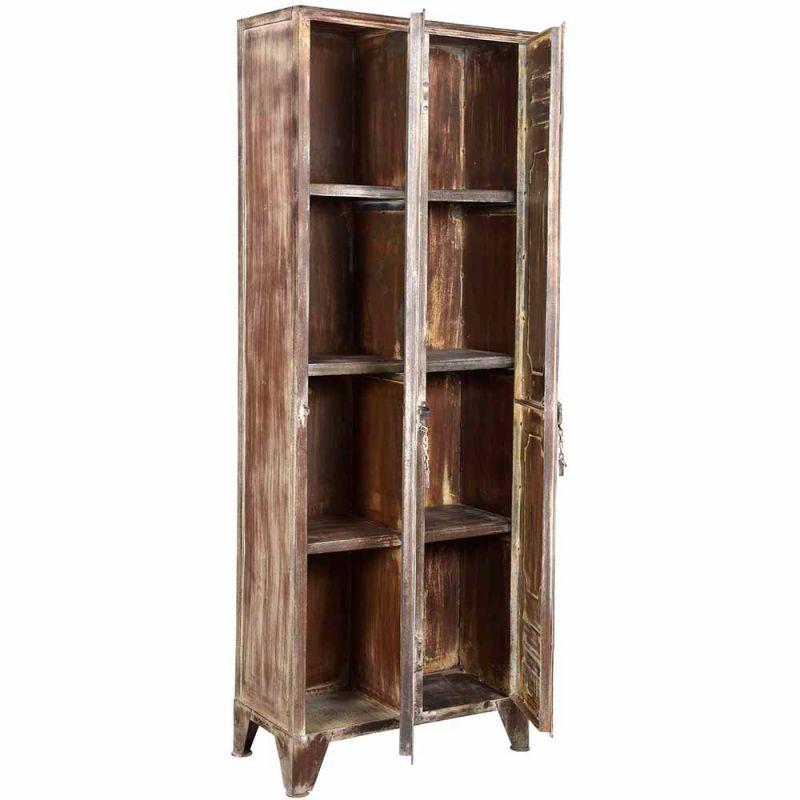 casier metal ancien iron 66cm 2 portes