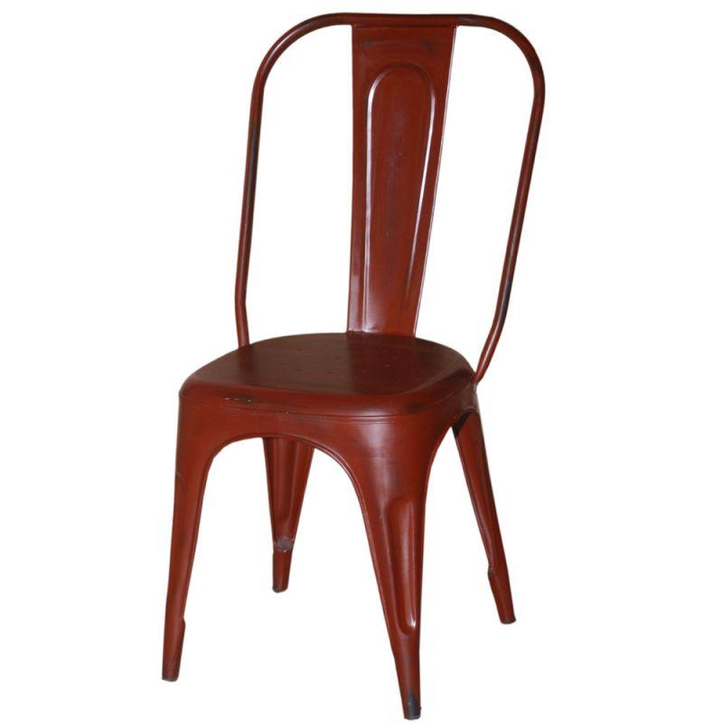 chaise metal industrielle 4 couleurs disponibles