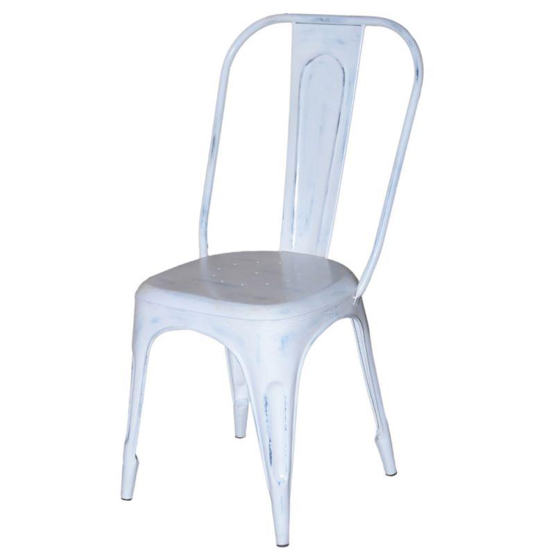 chaise industrielle metal iron 4 couleurs