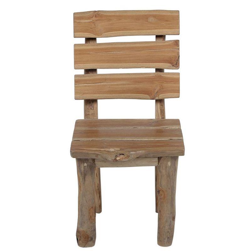 chaise branche de teck branche 45cm rondin