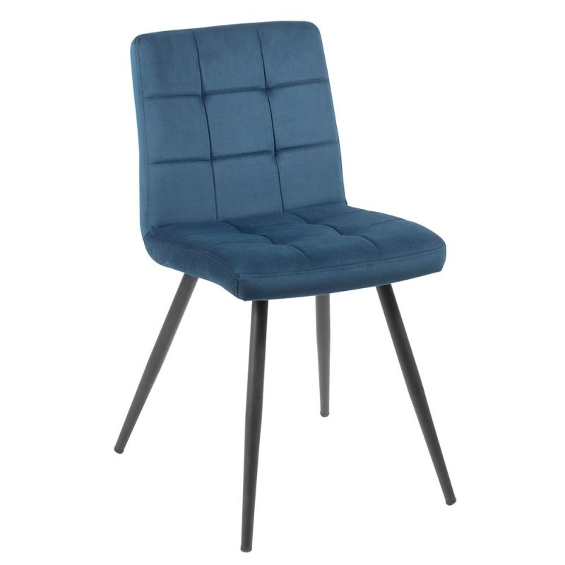 chaise tissu marron polyester sedia meuble passion