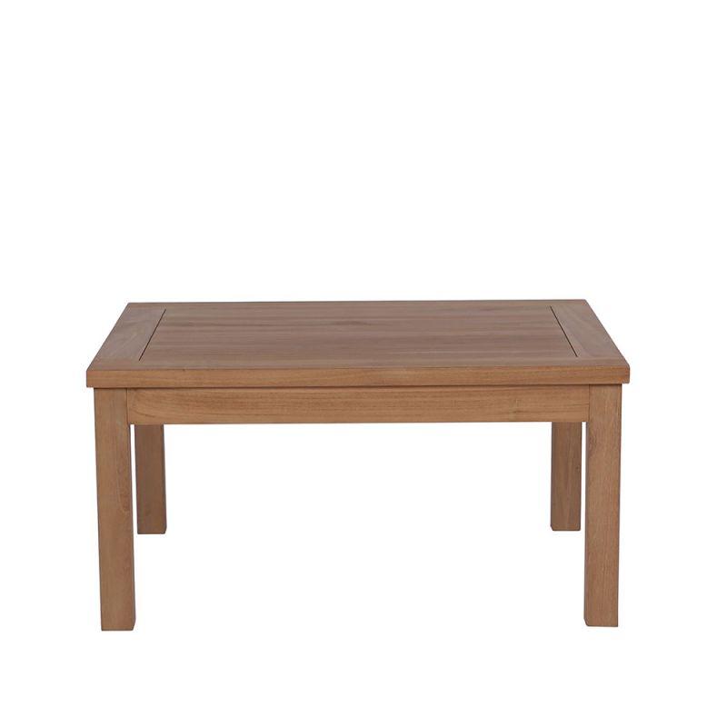 table basse exterieur teck massif 80cm jati rectangle