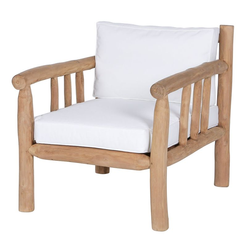 fauteuil branche bois flotte teck 75cm