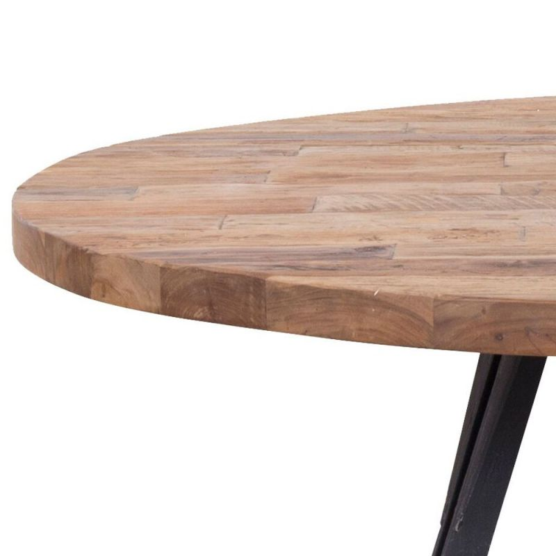 table teck et metal recycles home o130cm