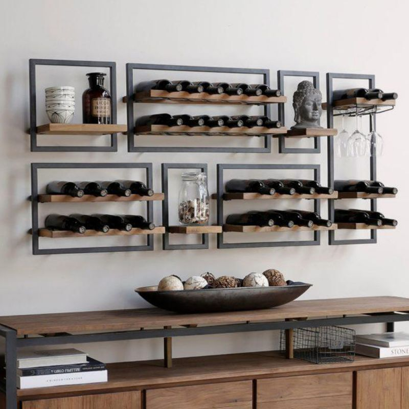 composition etageres teck recycle shelfmate n15 160x75cm