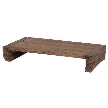 tables basses jardin teck massif