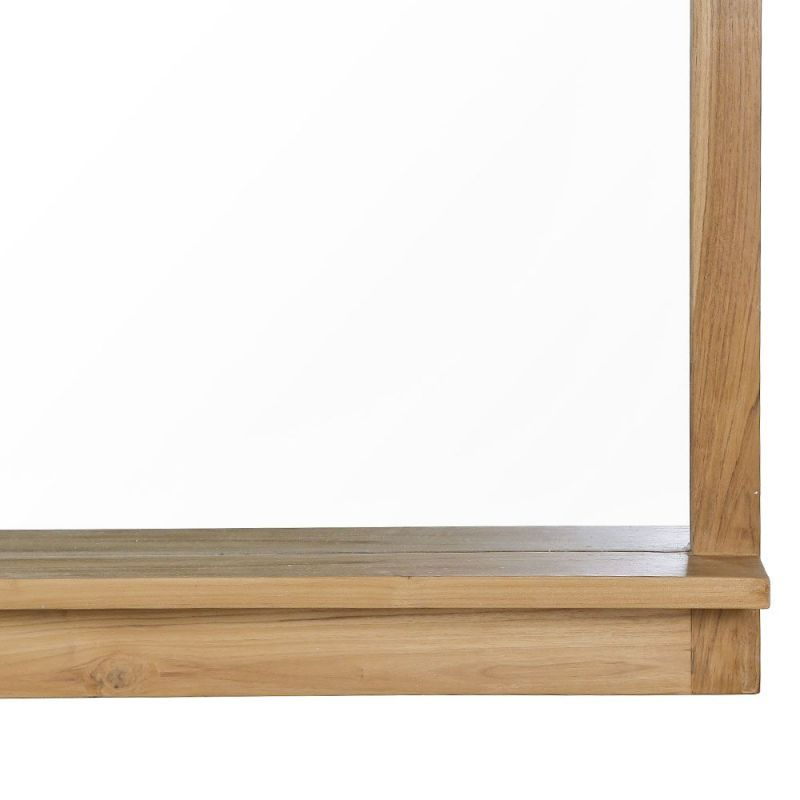 Miroir Salle De Bain Teck Massif 140cm Avec Tablette Mandi