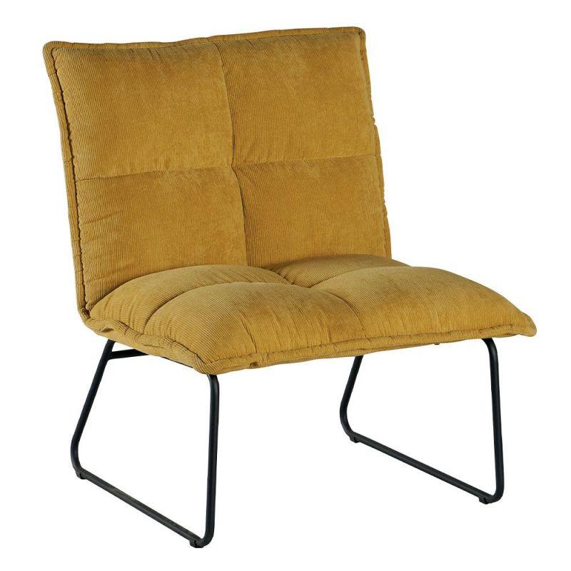 fauteuil velours colore chester 70cm