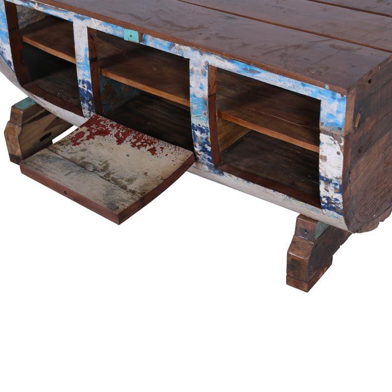meuble tv bois de bateau boatwood 170cm