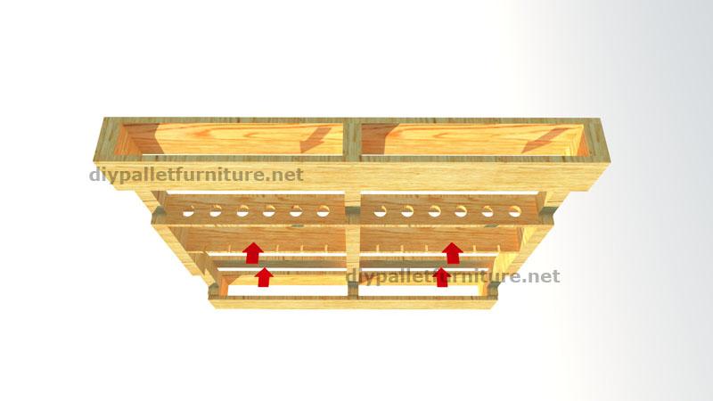 instructions sur la facon de faire un casier a bouteille en bois avec des palettesmeuble en palette meuble en palette