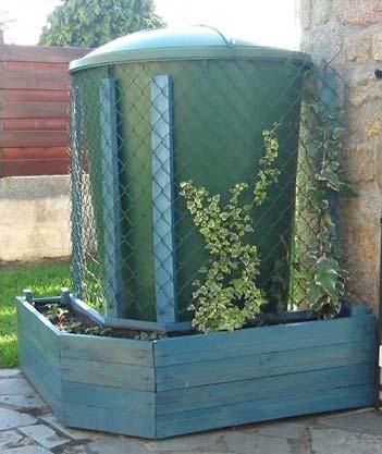 Jardinire En Palettes Pour Cacher Un Rservoir Deau Avec
