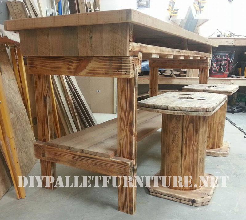 Table Et Tabourets Construit De Bois RcuprMeuble En