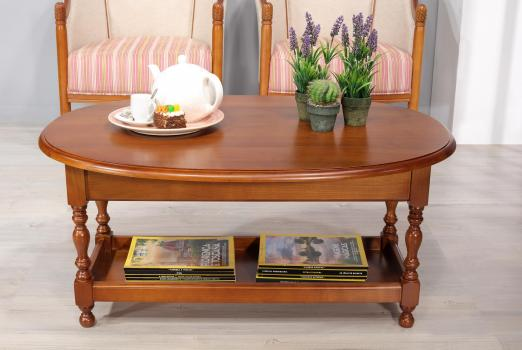 table basse ovale a volets zoe realisee