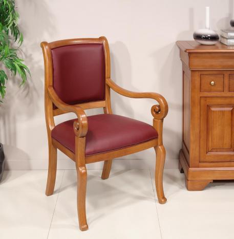 fauteuil crosse de style louis philippe
