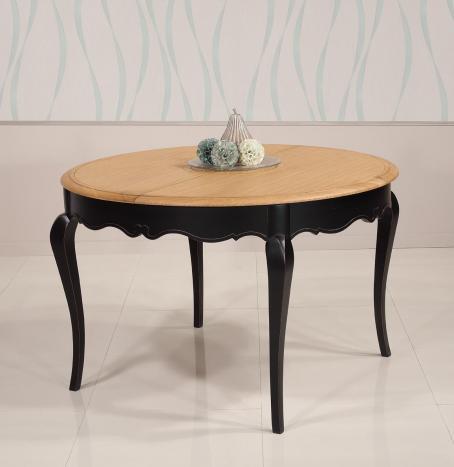 table ronde joffre en chene et merisier