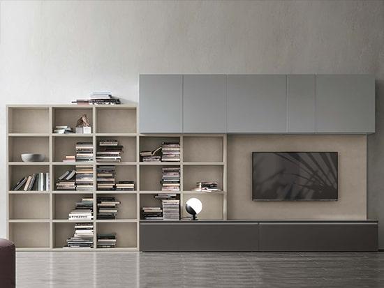 bibliotheque meuble tv contemporain