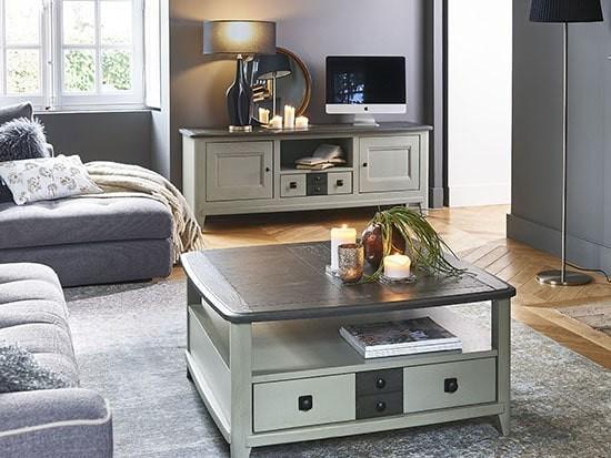 meuble tv en bois seraphine meubles