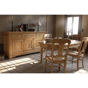salle a manger rustique tulipiere chene massif meubles duquesnoy frelinghien lille nord