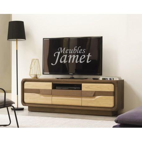 meuble tv contemporain chene massif
