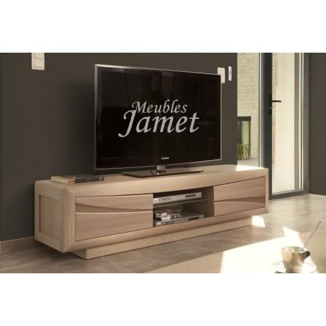 meuble tv contemporain en chene effet