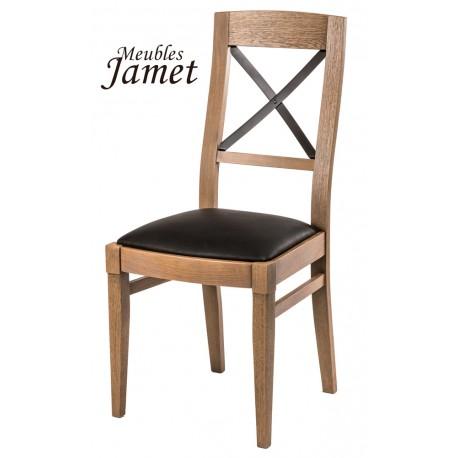 chaise style industriel loft en chene meublesjamet