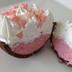 Ovo de Páscoa de Colher – Torta de Morango