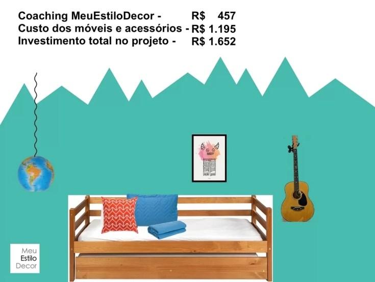Decoração de quarto jovem e barato. Investimento total no projeto já contando com a minha ajuda!