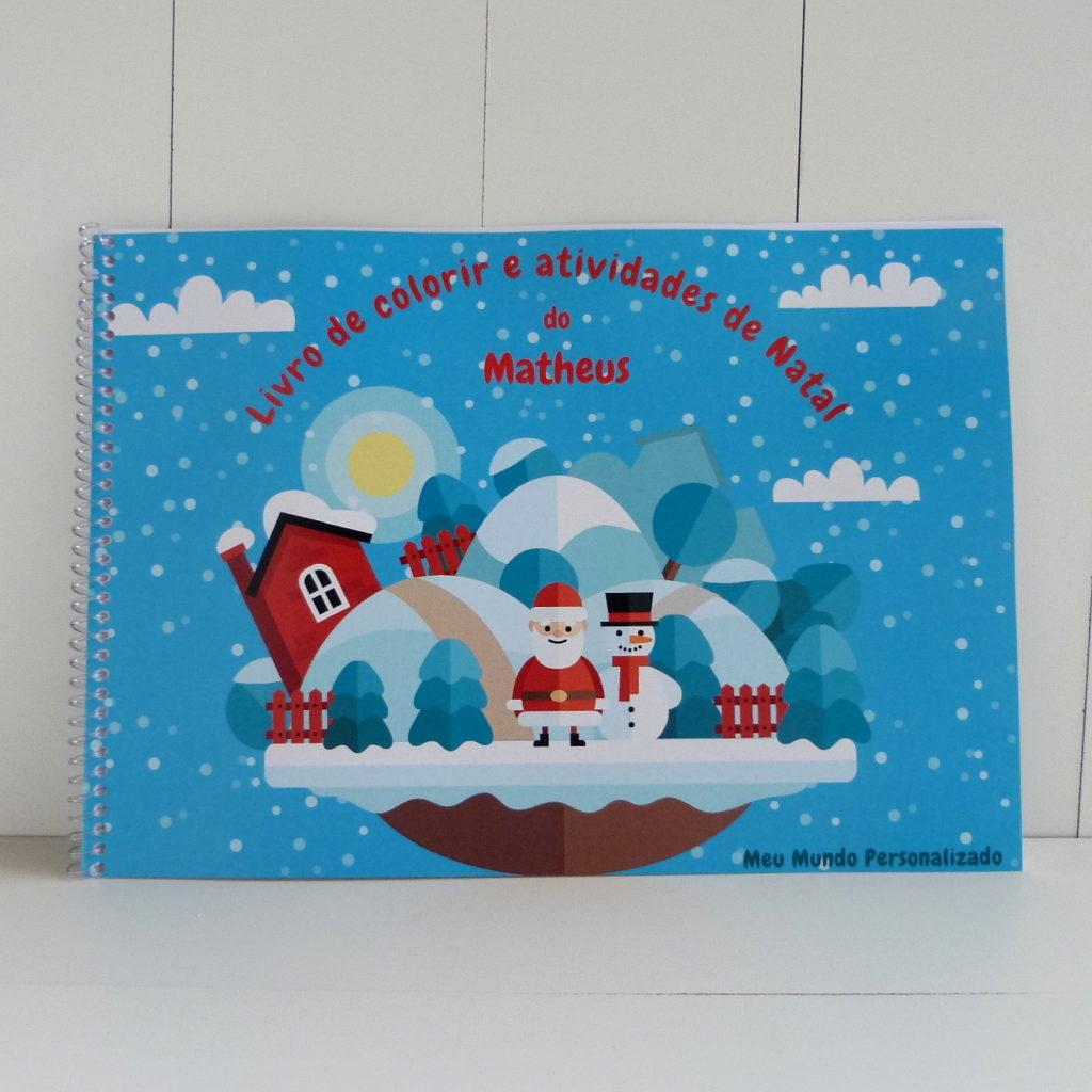 Livro De Colorir E De Atividades Personalizado De Natal