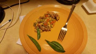 This is what my plate looked like.